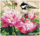 Titmouse and Peonies